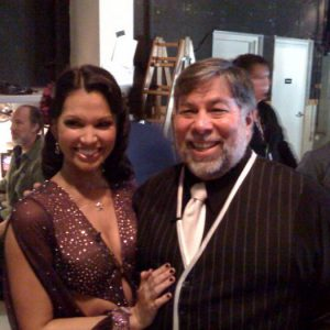 Melissa and Woz backstage