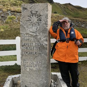 Woz-at-Arctic-Explorer-Shackletons-grave-on-South-Georgia-Island...Seabourne-Cruise